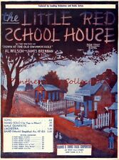Sheet Music 1932 The Little Red School House Art Post Office General Store