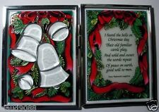 """AMIA - """"I HEARD THE BELLS ON CHRISTMAS DAY.."""" HAND PAINTED TABLETOP SCREEN 9107"""