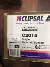 Clipsal Classic 10A Single Powerpoint C2015