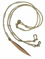 Showman ROMAL REINS Braided Natural Rawhide 9' with Leather Popper