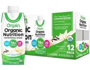 orgain organic protein vanilla
