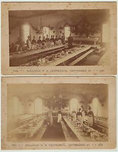 RARE -  LOT of 2 -  1887  Photos - Sullivan NH Centennial - New Hampshire