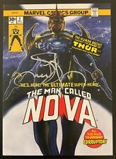 2018 Marvel Masterpieces NOVA #38 What If Silver Autograph Card 02/10