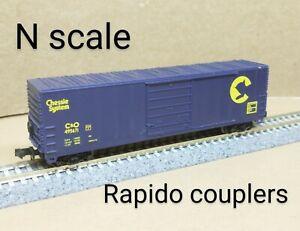 Chessie System C&O 50' box car N scale Life Like blue Chesapeake & Ohio modern