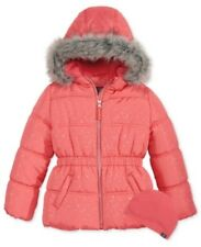 Protection Systems Bubble Jacket with Faux-Fur Trim, Toddler Girls 4T, Coral