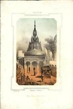 Stampa antica BENARES VARANASI Pagoda India 1857 Old antique Print एंटीक प्रिंट