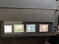 More details for jamaica 1932 sg 111-113 mm cat. £70