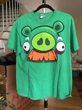 angry birds t-shirt Large Green