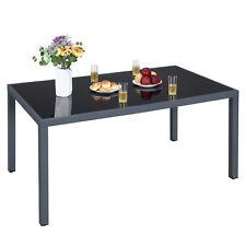 Gartentisch, Glas, Balkontisch, rechteckig, Outdoor, Picknick 150cm grau GPT09GY