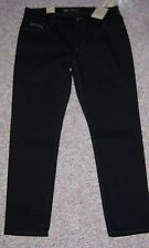 LEVI'S Black Mid Rise Skinny Leg Jeans Gray Silver Stitching Size 16 or 33 NWT