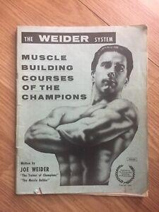 "Joe Weider ""TRIPLE PROGRESSIVE"" bodybuilding courses booket with CHARTS 1966"