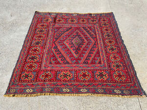 Oriental Rug Traditional (121 x 120 cm) 100% Wool Kilim Room Rug Mashwani Rug