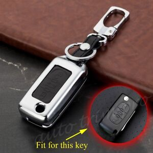 Fit For Peugeot 308 408 RCZ Metal Key Shell Bag Fob Holder Case Cover 3 Buttons