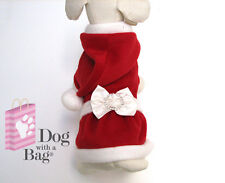 Mrs Santa Claus Christmas Dress Yorkie Chihuahua Dog Clothes Customes Large