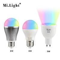 MiLight E27 GU10 RGB 5W 6W 9W 2.4G Smart Dimmable Led Lamp Light Bulb 85-265V