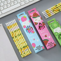12pcs/box Cute Standard Wood Pencil with Eraser for Kid Student Writing Drawing