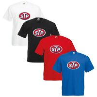 STP Oil T-Shirt Classic Car Enthusiast Nascar VARIOUS SIZES & COLOURS