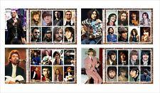 2020  BEATLES      8 SOUVENIR SHEETS  UNPERFORATED music JOHN LENNON