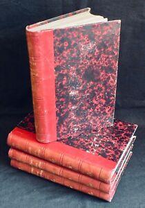 Histoire de France - 4 Vol. - Jules Michelet - ill. Vierge - Eds. Lacroix - 1876