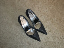 "Guess Carrie black glitter pumps size 9M with 4"" heels"
