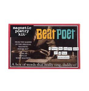 Magnetic Poetry ~ BEAT POET ~ Fun Magnetic Word Tiles