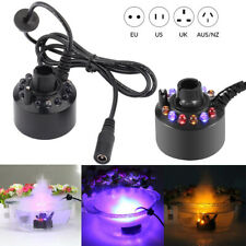 RGB 12 LED Ultrasonic Mist Maker Aquarium Atomizer Fish Tank Fogger Fountain UK