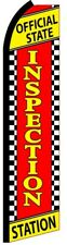 OFFICIAL STATE INSPECTION STATION Auto Repair Swooper Flag Feather Banner Sign