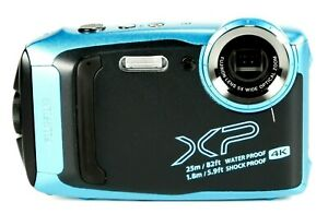 4K Fujifilm FinePix XP140 16MBSI-CMOS Waterproof Action Camera, Sky Blue