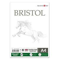 A4 200gsm Bristol Planche Croquis Coussin Blanc Dessin Artiste Papier Gommé Book