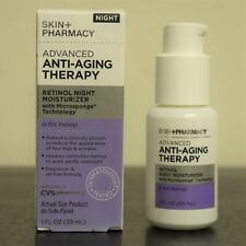 Skin + Pharmacy Advanced Anti-Aging Therapy RETINOL NIGHT MOISTURIZER 1 Oz Pump