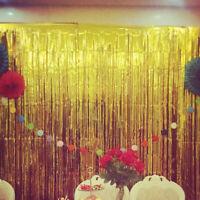Tinsel Curtain Photo Background Halloween Wedding Birthday Party Wall Decorat FE