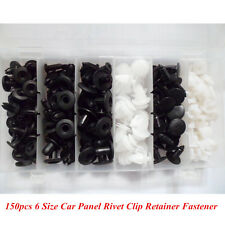 Plastic 150pcs Car Bumper Panel Push Pin Rivet Clip Retainer Fastener Assortment