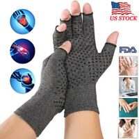 Copper Arthritis Gloves Hands Therapeutic Compression Brace Carpal Tunnel  Pain