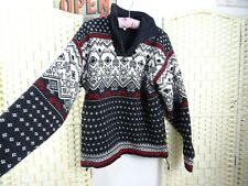WINDTEX lined wool blend jumper Norwegian style chunky warm jumper size S  PB770