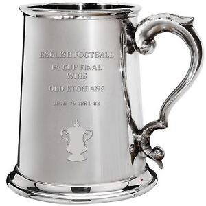 Old Etonians English FA Cup Winner 1pt Pewter Tankard Gift