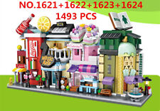 4 Set LOZ 1621-1624 MINI Blocks DIY Kids Adult Building Toys Stree Store 1493pcs