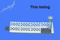 LEGO footbridge extension kit train station or road  railway bridge  train