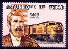 Major General Dodge, Train Railroad executive, Railways, Chad 1998 MNH