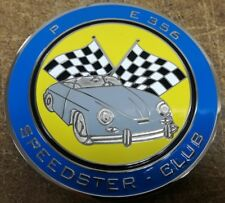 Little bastard 356 speedster club shield metal badge plate emblem