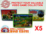 5X NINTENDO FAMICOM SMALL CIB GAME - CLEAR PLASTIC PROTECTIVE BOX PROTECTORS