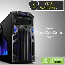 Windows 10 Core i7 Quad Core Gaming Tower PC - 16GB DDR3 - 120GB SSD & HDD 2TB.
