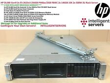 HP DL380 Gen9 2x E5-2623v3 256GB P440ar/2GB FBWC 2x 146GB 15K 2x500W Rack Server