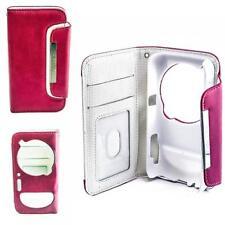 LUXE Book style Case pochette pour téléphone portable samsung Galaxy s4 zoom rose-blanc housse étui