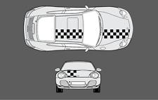 Porsche 911 (996) Bonnet & roof Chequer Chequered Stripe Graphic Decal Set