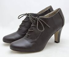 J. Jill Ankle Boots Brown Leather Lace Up Botties Sz 11 Oxford Shoes Heels JJill