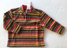 Nwt Gymboree Alaskan Adventure 4 4T Red Stripe Micro Fleece Half Zip Pullover