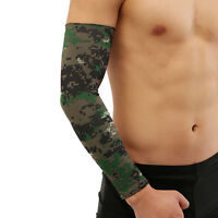 1Pair-Cooling Arm Sleeves Cover UV Sun Protection Basketball Golf Athletic Sport