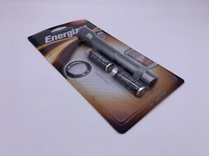 Energizer 2 AA LED Flashlight 35 Lumens Silver Metal Brand New W/ Batteries 2009