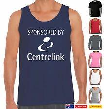 Sponsored by Centrelink Funny T-Shirts Aussie Bogan Straya Costume gift New Size