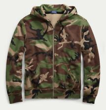 Polo Rapph Lauren Full Zip Fleece Hoodie Surplus Camo L NWT
